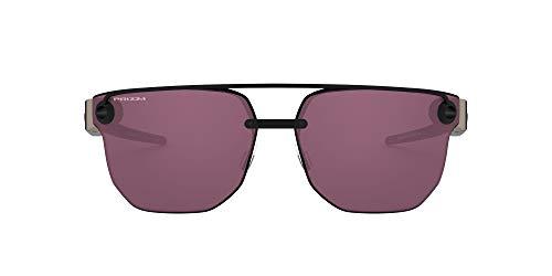 Oakley Herren Chrystl OO4136 Sonnenbrille, Schwarz (Matte Black/Prizm Indigo), 67
