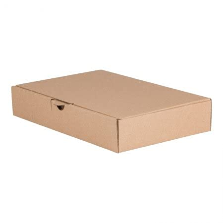 BB-Verpackungen 100 x Maxibriefkarton 240 x 160 x 45 mm (DIN A4, 1-wellig, bis ca. 25 kg belastbar) - Sets zwischen 25 und 4800 Stück
