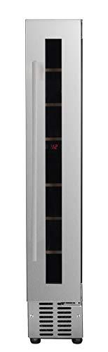 CATA Modelo Vi 15007 X | Vinoteca de encastre Frontal | Capacidad para 7 Botellas | Clase de eficiencia energética B, Vidrio, Acero inoxidable, Transparent/Silver