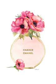 Glasschilderij - schilderij fotokunst - foto print op glas - 60x80 - Chanel fles parfum