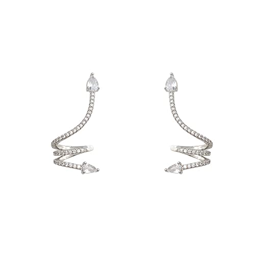 Pendientes micro con incrustaciones en forma de serpiente pendientes de diseño femenino tendencia personalidad pendiente especialmente exagerado Regalo de San Valentín Pendientes de boda