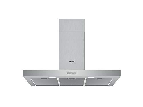 Siemens LC94BBC50 iQ100 Dunstabzugshaube/Wandhaube / 90 cm / Metall-Fettfilter / LED-Beleuchtung / Edelstahl