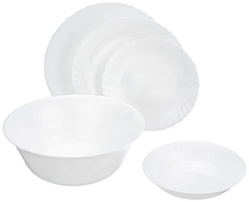 Dajar Service de Table feston 41 pièces/12 Pers. Luminarc unités de, Verre, Blanc, 36 x 26 x 27 cm, 41