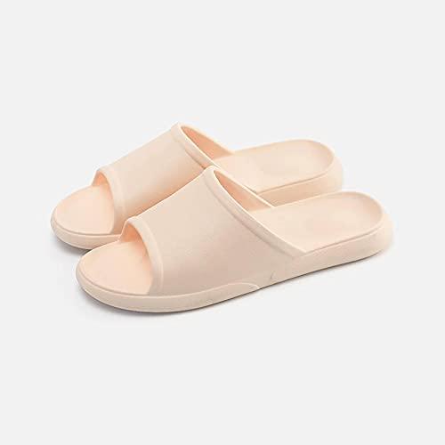 N\C Zapatillas Mujer Verano Hogar Antideslizante Interior Baño Parejas Baño Sandalias Y Zapatillas De Fondo Suave Hombres (2 Pares)