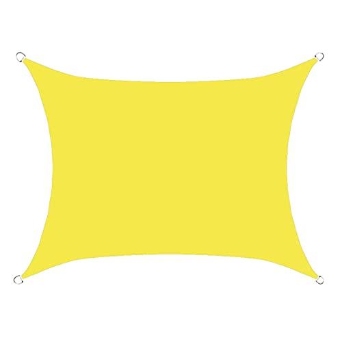 YUDEYU Rectángulo Vela de Sombra Toldos Vela Solar Canopy Tela de Oxford Aislamiento y enfriamiento Impermeable Proteccion Solar Respirable Anti-UV cuadrilátero Red de sombreado