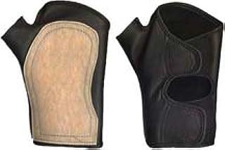 車椅子グローブ ロング・パット:生ゴム・止め方:正タイプ (M 21~23cm, 黒)