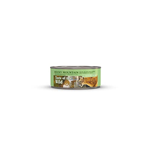 Taste of the Wild Rocky Mountain Grain-Free Recipe with Salmon and Roasted Venison in Gravy Wet...