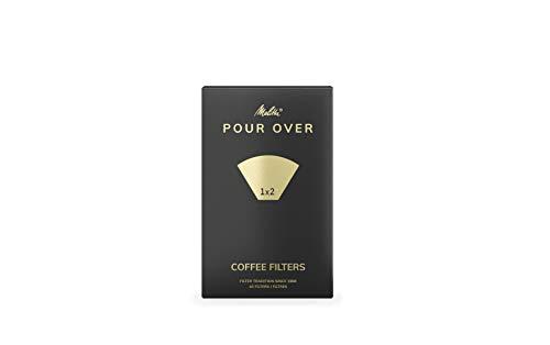Melitta Pour Over Filtertüten: Kaffeefilter für den perfekten Pour Over Kaffee, Größe 1x4, weiß, 5x40 Filter