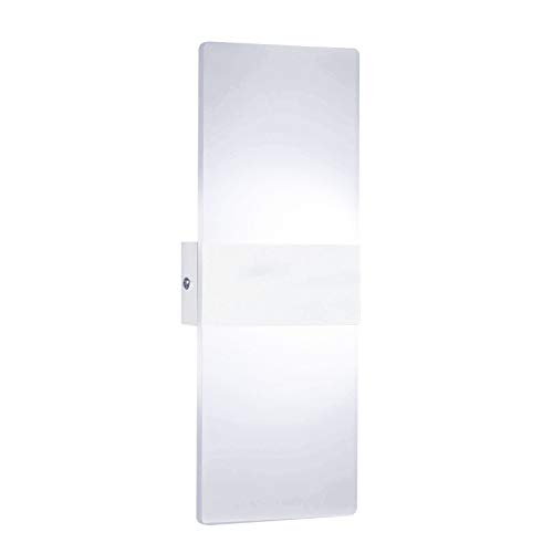 Lixada Lámpara de Pared Interior Moderna Rectángulo AC85-265V Apliques de Pared de Pasillo de Cabecera Lámpara de Aluminio Decorativa para el Hogar