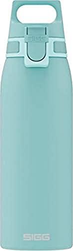 SIGG Shield One Glacier Trinkflasche (1.0 L), schadstofffreie und auslaufsichere Trinkflasche, langlebige Trinkflasche aus Edelstahl mit ONE Top