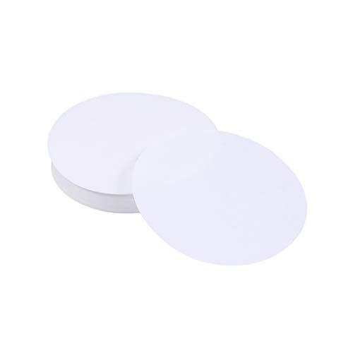 UEETEK 100 Stück Qualitatives Filterpapier, Durchmesser 11CM Papierscheiben mit mittlerer Fließgeschwindigkeit für Chemische Anwendungen