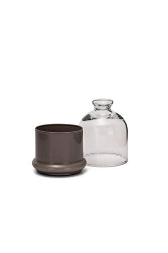 SWEET HOME glaslåda, med lock, beige färg baskod.SB00874LU cm 12,5 h diam.10 av Varotto & Co.