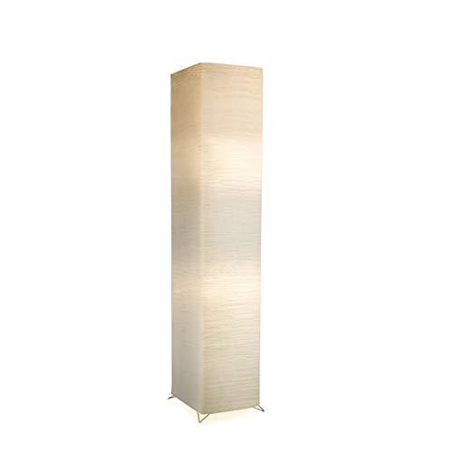 DROMEZ Stehlampe Dimmbar, Papier Stehleuchte mit 3 Farbtemperaturen, Fernbedienung, Mobile App-steuerung, Timing-funktion, 9W LED Energiesparlampen, Dekoration Standlampe für Wohnzimmer,Weiß