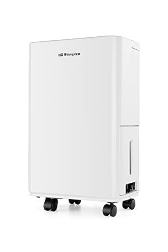 Orbegozo DH 1250 - Deshumidificador, 12l por día, refrigerante R290, tanque de 2,4l, 40m2, conexión para desagüe, 265 W