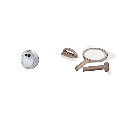 Intex 28503 Luce A Led Multi-Color Con Batteria Per Bubble Spa & 28004 Kit Pulizia Per...