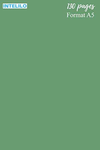 Cahier en Vert sauge: 130 pages, Format A5 de 15,24 x 22,86 cm (6
