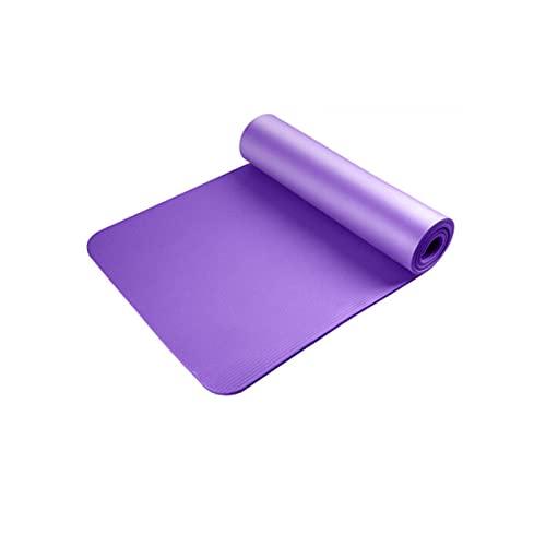 ZZRTEC Esterilla Deporte Antideslizante,TPE Esterilla De Yoga Y Alfombra Fitness, Adecuada para AeróBic Pilates Yoga Y Gimnasia(183 × 61 × 1,0 Cm) Purple