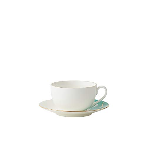 Amazon Brand - Umi Cup and Saucer Set Watercolour with Gold Banding Premium...