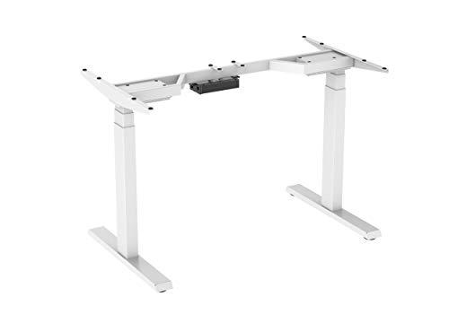 StandXT D08 Advanced elektrisch höhenverstellbarer Schreibtisch Stehpult Tischgestell Tischbeine (Höhe 62-128 cm, Memoryfunktion, Kollisionsschutz, 2 Motoren, einfache Montage, robust), Weiß