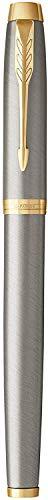 Parker IM Füller | Brushed Metal | Füllfederhalter Feine Spitze | Geschenkbox