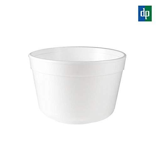 BAMI EINWEGARTIKEL 100 x Suppenschale Suppenterrine Thermobecher Einwegbecher aus Styropor, FC12, ca. 340ml, Weiß