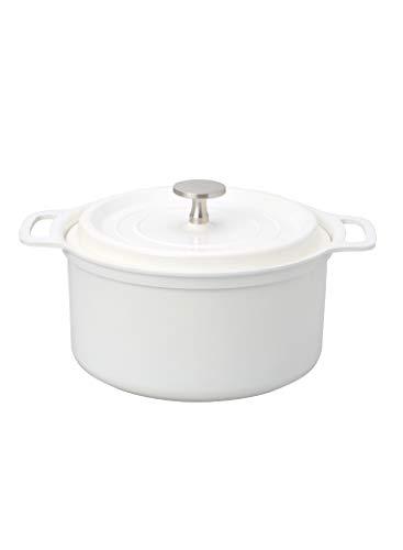 シービージャパン 両手鍋 ホワイト 18cm 軽量 無水調理 セラミック塗装加工 IH対応 copan
