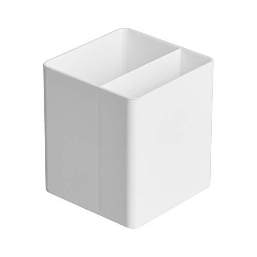 Amazon Basics Organizador de plástico, portabolígrafos, blanco