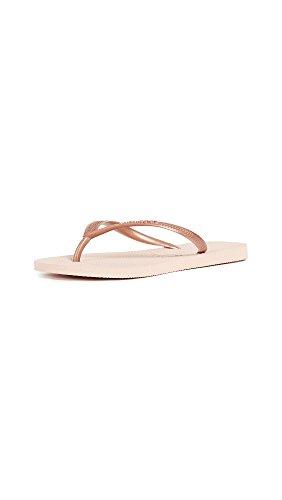 Havaianas Women#039s Slim Flip Flop Sandal Ballet Rose 78 M US