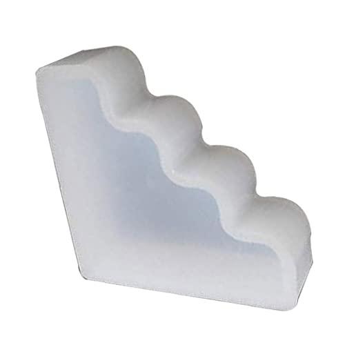 Molde de la vela del molde del silicón de la forma geométrica 3D Escaleras para el bricolaje perfumado jabón de la vela de cera regalo Craft Hacer fiesta de la boda decoración del hogar