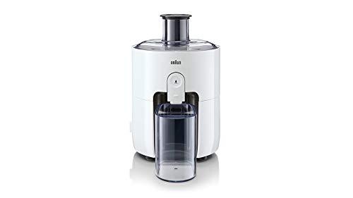 Braun PurEase Entsafter SJ 3100 WH – Juicer für selbstgemachte Säfte, Großer Einfüllschacht für ganze Früchte, mit ColdXtract Technologie zum Erhalt der Vitamine, 500 Watt, Weiß