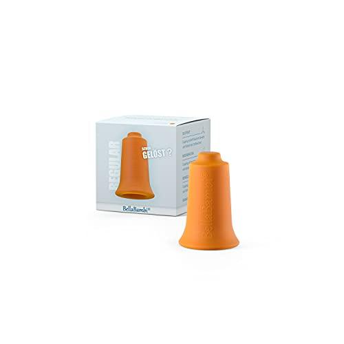Ventouse BellaBambi MINI, traitement des fascias. Fabriquée en Allemagne - en silicone médical, BellaBambi Ventouse Solo, 1 pièce - REGULAR - Orange (intensité moyenne)