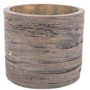 Swan Creek Weathered Wood Pottery Candle Roasted Espresso
