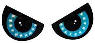 LIGHTED 2 PIECE EYE SET HALLOWEEN DECORATION BLUE EYES WINDOW LIGHTS INDOOR OUTDOOR HANGING WITH SUCTION CUPS