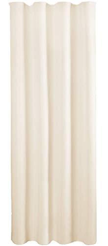 Bestlivings Blickdichte Beige Gardine mit Kräuselband in 140x245 cm (BxL), in vielen Größen und Farben