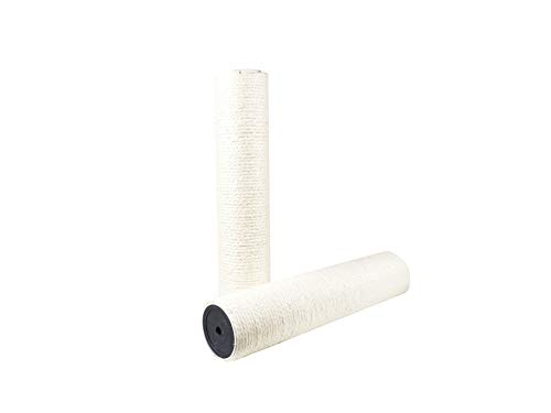 """Treasborn Natural White Sisal Spare Scratching Post for Cat Tree Replacement Scratcher Rifill Post for Large Cat Tree Refurbishment 15.75"""" No Smell for Large Cats"""