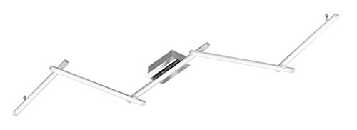 WOFI plafondlamp, metaal, geïntegreerd, 10 W, chroom [Energieklasse A+]