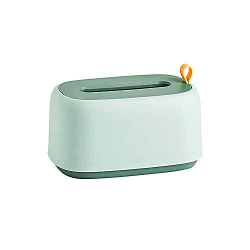 WANGLETA Pañuelos Caja Inodoro Doméstico De Pared Organizador De Escritorio Sala Comedor Creative Caja De Pañuelos Verde