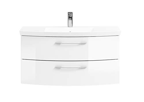 Pelipal Cassca Sprint Bad Möbel/Weiß Hochglanz, Waschtisch + Unterschrank 101 cm