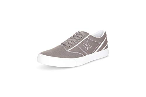 Hurley Mens Slip-On Sneakers (Jasper) Casual Canvas Shoes with Top Lace - Light Men's Walking Shoes - Comfortable Mens Fashion Shoes Steeple Grey