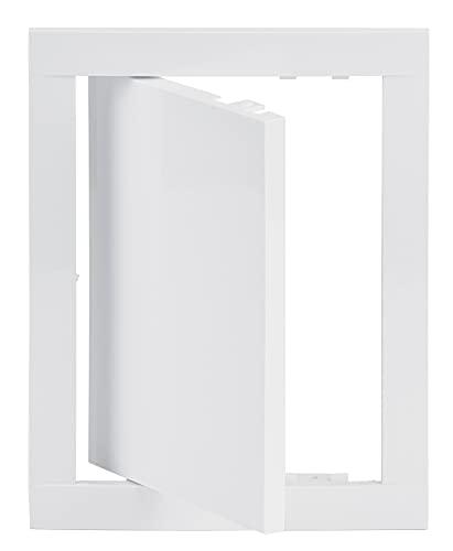 15x20 cm Revisionsklappe Weiß Revisionstür Wartungsklappe Inspektionsklappe aus Kunststoff (150x200 mm)