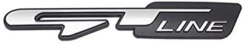 De Rejilla Frontal de Metal Insignia Emblema de Parrilla Cabeza Coche,De Rejilla Frontal de Metal Insignia para Peugeot 206 Kia Stinger Optima Rio Forte K3 K5 GT Line,Accesorios diseño de automóviles