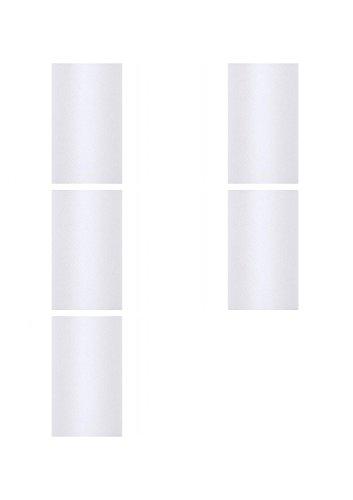 SiDeSo® Tüll 45m x 50cm (5x 9m Rolle) Stoff Hochzeit Tischläufer Deko Floristik (weiß)