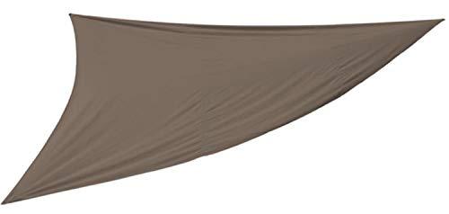 PEGANE Voile d'ombrage Triangulaire Coloris Taupe - Dim : 5 x 5 x 5 m