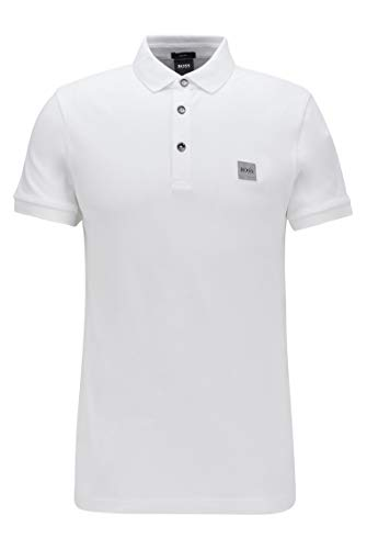 BOSS Herren Passenger Poloshirt, Weiß, L EU
