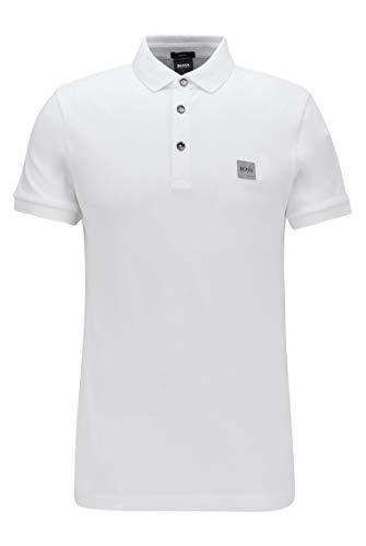 BOSS Herren Passenger Poloshirt, Weiß, XL EU