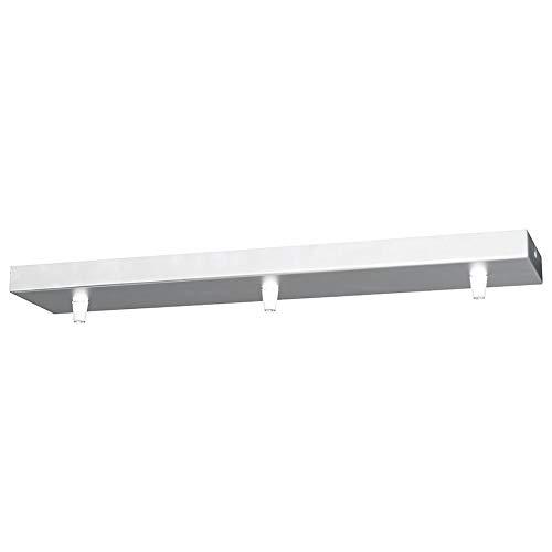 Girard Sudron Lampen Baldachin 3-fach Metall rechteckig 47 x 9,5 x 2,5 cm, Weiß