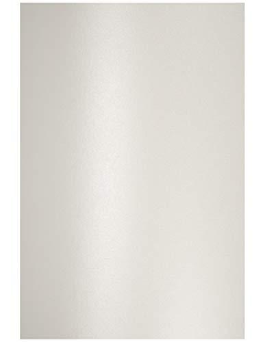 Netuno 10x Perlmutt-Weiß 120g Papier DIN A4 210x297 mm Aster Metallic White Perlweiß Papier schimmernd glänzend Perlglanz Metallic-Effekt Pearlpapier Glanzpapier Perlmutt metallic Bastelpapier Weiß