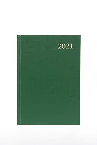 Collins Essential - Agenda giornaliera 2021, formato A4, colore: Verde