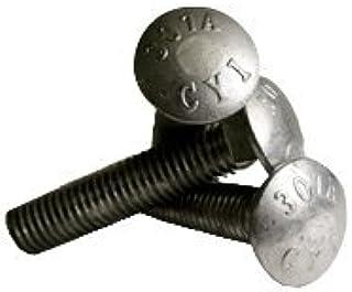 Quantity: 125 Inch Full Thread,Size: 5//16-18,Length: 1-1//4,Head: Round,Drive: External Square,Steel,Zinc,Thread Type: UNC 5//16-18 x 1 1//4 Carriage Bolts Grade 5 COARSE ZINC CR+3
