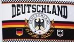 FRIP - Versand Deutschland Fussballfahne Lorbeerkranz mit Ösen Fahne Flagge Grösse 1,50 x 0,90m